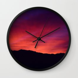 SW Mountain Sunrise - 5 Wall Clock