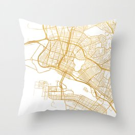 OAKLAND CALIFORNIA CITY STREET MAP ART Throw Pillow