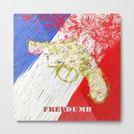 Freedumb Metal Print