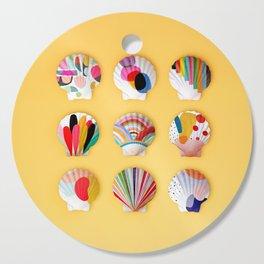 Rainbow Print Shells Cutting Board