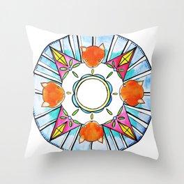 Circle of Foxes Throw Pillow