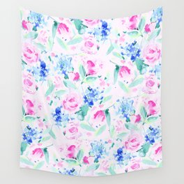 Scattered Lovers Pink Wall Tapestry