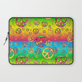 Crazy Kids Colors, Peace Out Laptop Sleeve