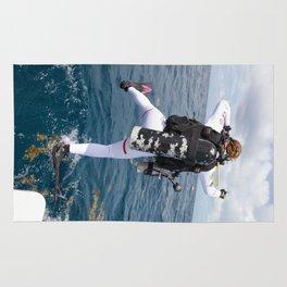 Scuba Diver Jump Rug