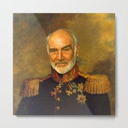 Sir Sean Connery - replaceface Metal Print