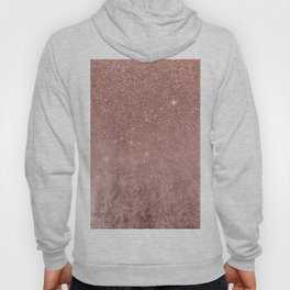 Girly Glam Pink Rose Gold Foil and Glitter Mesh Hoody