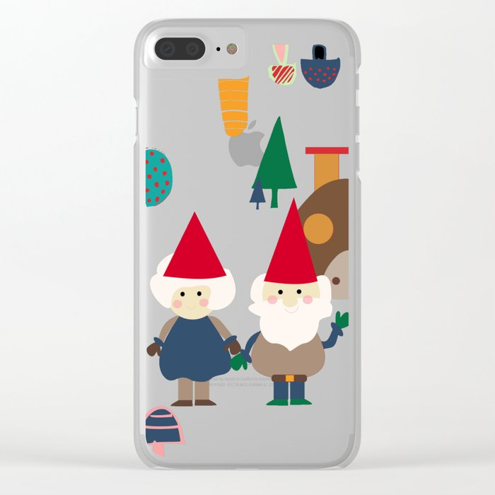 gnome blue Clear iPhone Case