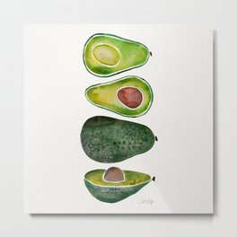 Avocado Slices Metal Print