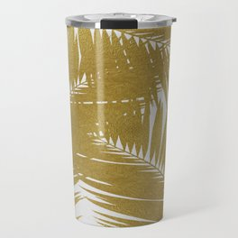Palm Leaf Gold III Travel Mug
