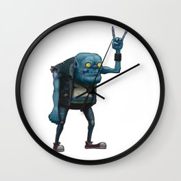 Metal Goblin Wall Clock
