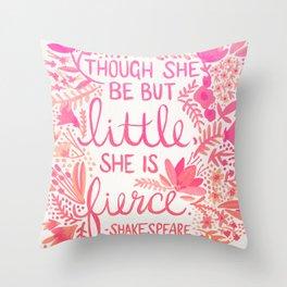 Little & Fierce – Pink Ombré Throw Pillow