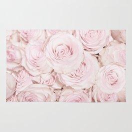 Roses have thorns - Floral Flower Pink Rose Flowers Rug
