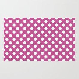 Polka dot pattern/pink background Rug