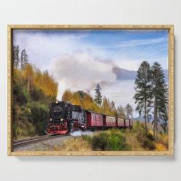 Steam Engine Locomotive Serving Tray