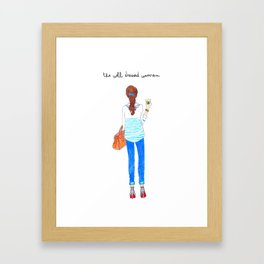 Well Dressed Woman Framed Art Print
