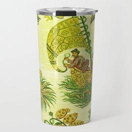 Chartreuse Chinoiserie Travel Mug