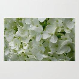 White Hydrangia Blossom Rug