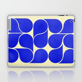 Blue mid-century shapes no8 Laptop & iPad Skin