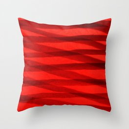 Scarlet Shadows Throw Pillow