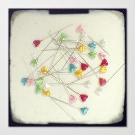 I heart pins Canvas Print