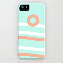Turquoise & Coral (7) iPhone Case