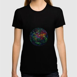 Flower of Life in the Universe - Universe in the Flower of Life T-shirt