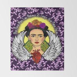 "Frida Kahlo ""Alas"" Throw Blanket"