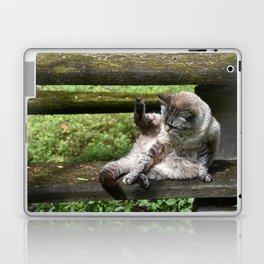 Shikari playing with his tail Laptop & iPad Skin