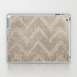 Chevron burlap (Hessian series 1 of 3) Laptop & iPad Skin
