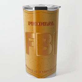 FBI Spoof Shield Badge Travel Mug