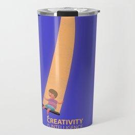 Creativity Is Intelligence Having Fun- Albert Einstein Quote Travel Mug
