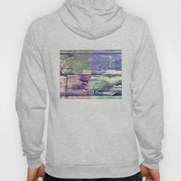 Abstract colored boards pattern Hoody