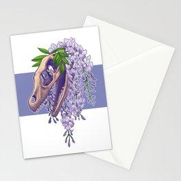 Velociraptor with Wisteria Stationery Cards