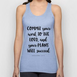 Proverbs 16:3 - Bible Verse Unisex Tank Top