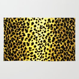 Leopard Print Animal Wallpaper Rug