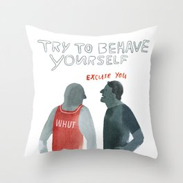 Human Being Experiment: Behave Throw Pillow