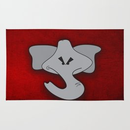 Enraged Elephant Rug
