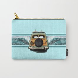 Woody Wave Hawaiian Surf Illustration  Carry-All Pouch