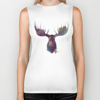 is the new black Biker Tanks featuring Moose by Amy Hamilton