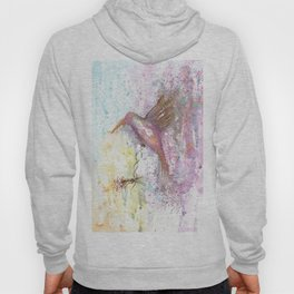 Hummingbird Watercolor Illustration Hoody