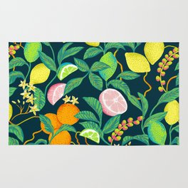 citrus fruits print Rug