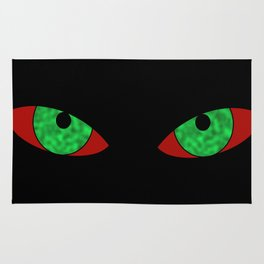 Evil Eyes Halloween Rug