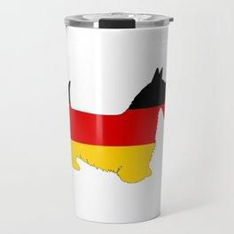 German Flag - Scottish terrier Travel Mug