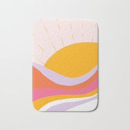 laurel canyon sunrise Bath Mat