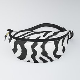 8 bit Zebra stripes pattern. Digital illustration Fanny Pack