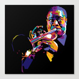 Satchmo in WPAP Canvas Print