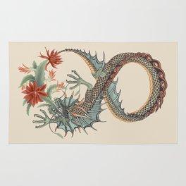 Botanical Flower Dragon 8 Rug