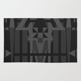 Dark Tonal Pattern Rug