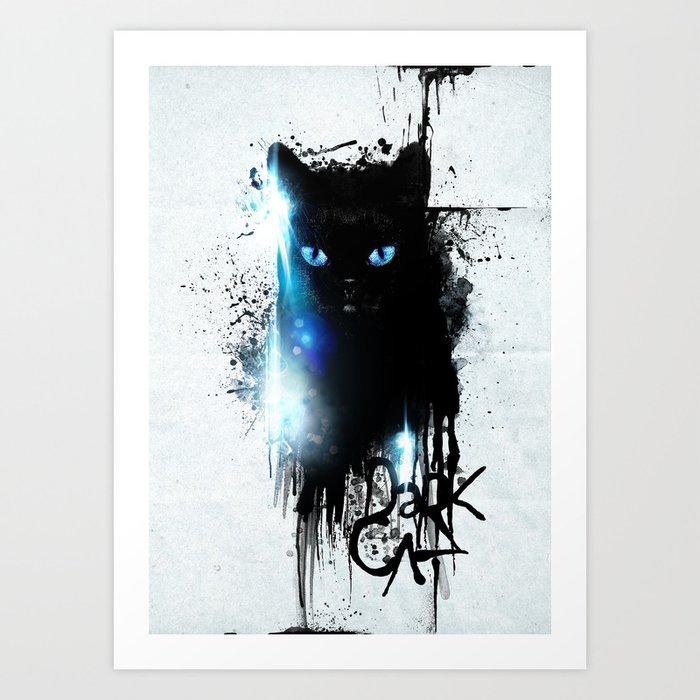 Dark Cat Art Print