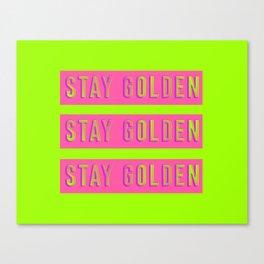 Stay Golden Art Print Canvas Print
